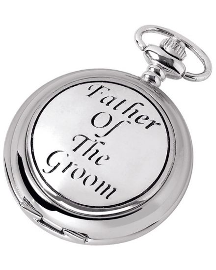'Father of the Groom' Quartz Pocket Watch with Chain